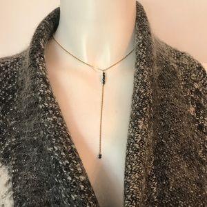 Black Spinel Gold Choker Necklace